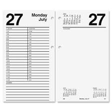 Desk Daily Calendar At A Glance E210 50 Large Daily Desk Calendar Refill Julian