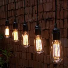 Edison Light Bulbs 40w E27 St58 Edison Bulb Antique Filament Lamp Retro Vintage Light