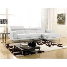 maison du canapé canapé cuir angle oslo cuir reconstitué blanc blanc la maison du