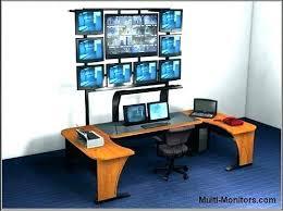 Computer Desk For Two Monitors Dual Monitor Computer Desk Two Monitor Computer Desk Mount