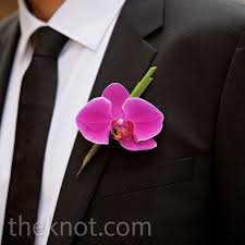 orchid boutonniere pink orchid boutonniere