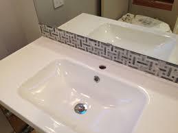 Bathroom Big Tiny House - Bathroom sink backsplash