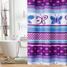 Shower Curtain At Walmart - mainstays kids purple butterfly shower curtain walmart com