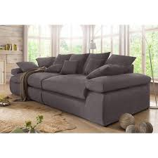 3 suisses canapé canapé 3 places en microfibre home affaire gris anthracite