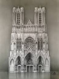 gothic architecture drawing dreams of an architect reims cathedral pencil drawing