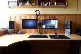 computer desk for dual monitors attractive desk for dual monitor setup fantastic home office