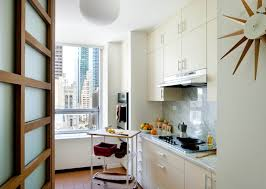 Galley Kitchen Design Layout Kitchen Elegant White Small Kitchen With Island And Rattan Stool