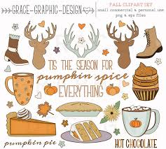 fall thanksgiving clipart autumn clipart by gracegraphicdesign