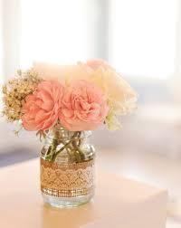 Mason Jar Vases Wedding Best 25 Lace Jars Ideas On Pinterest Jar Crafts Art Deco