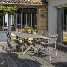 table de jardin haut de gamme mobilier de jardin en aluminium plantes et jardins