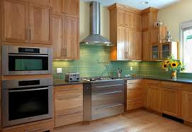 green kitchen backsplash tile transitional family kitchen