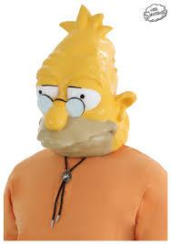 Simpsons Halloween Costumes Grandpa Simpson Mask Simpsons