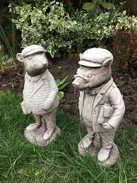 pair garden wind in the willows type characters lovely