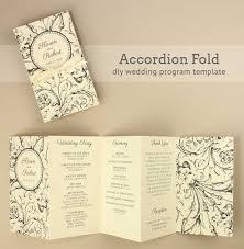 accordion wedding program free printable wedding program