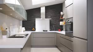 cuisine metal cuisine équipée moderne en u laque grise métal cuisinella