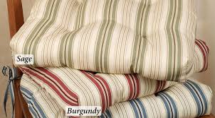Small Bistro Chair Cushions Chair Striped Chair Pads Chair Seat Pads Gray Dining Chair