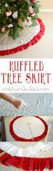 easy to sew ruffled christmas tree skirt