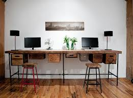 Build A Wooden Computer Desk by 25 Ingenious Ways To Bring Reclaimed Wood Into Your Home Office