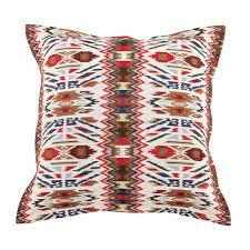 faux leather throw pillows aztec collection faux leather cushions home decor bivain