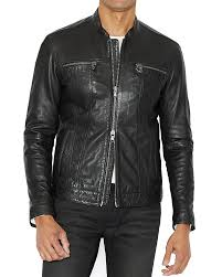mens leather biker jacket men u0027s leather jackets racer biker u0026 more bloomingdale u0027s