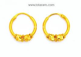 baby hoop earrings gold baby hoop earrings ear bali in 22k gold 235 ger7252 in
