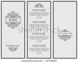 Designs Of Menu Card Restaurant Menu Design Vector Menu Brochure Stock Vector 257399578