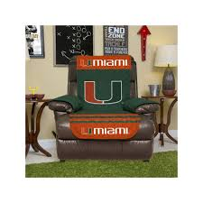 miami hurricanes quilted recliner chair cover green reclining