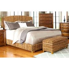modern country style hand woven banana leaf bed with storage
