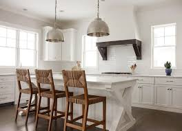 cottage kitchen island x based kitchen island with seagrass counter stools and nickel