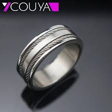 aliexpress buy 2017 wedding band for men 316l 2017 new 316l stainless steel men wire insert rings jewelry best