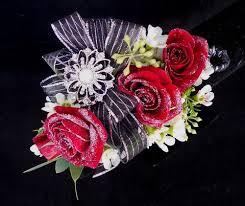 Red Rose Wrist Corsage Red Rose Wrist Corsage In Orange Ca The Enchanted Florist