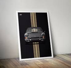 porsche poster vintage porsche 911 early 911 poster vertical car bone pl