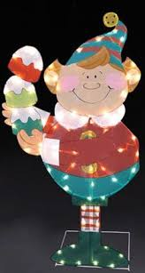 Outdoor Christmas Decorations Elf by Retro Lighted Outdoor Holiday Countdown To Christmas Clock Yard