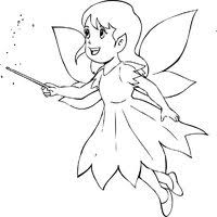 fairy coloring pages surfnetkids