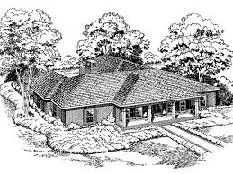 u shaped ranch house plans cornerbrook luxury home plan 038d 0292 house plans and more