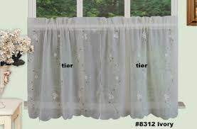Daisy Kitchen Curtains by Sheer Cafe Curtains Amazon Com
