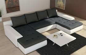 canapé d angle convertible cuir blanc canape d angle convertible cuir noir maison design hosnya com