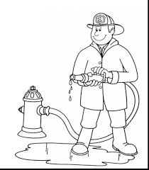 fireman extinguishes fire coloring sam pages pdf penny