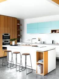cuisine bois et blanche ilot central bois cuisine minimaliste design cuisine blanche