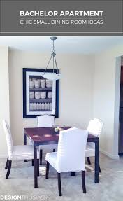 bachelor apartment part 2 chic small dining room ideas jedálne
