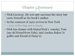great gatsby chapter summaries ppt