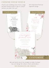 hand drawn venue wedding invitations wedding stationery from