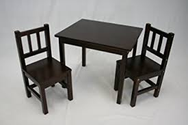 Kitchen Table And 2 Chairs by Amazon Com Ehemco Kids Table And 2 Chairs Set Solid Hard Wood