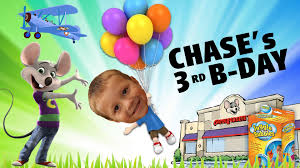 fourth of july birthday invitations chase u0027s 3rd birthday party chuck e cheese w huge present