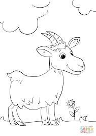 cute cartoon goat coloring page free printable coloring pages