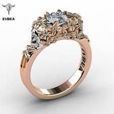 gold zircon rings images Evbea elegant gold skull zircon ring womens celectt jpg