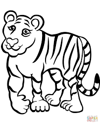coloring page of a tiger kids coloring europe travel guides com