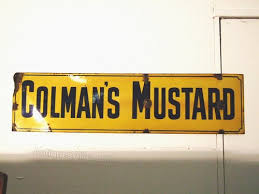 colman s mustard antiques atlas colmans mustard enamel sign large size