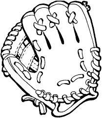 baseball glove colouring page baseball glove colouring page