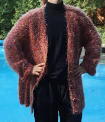 xxl knitted jacket womens autumn cardigan fall sweater fuzzy warm